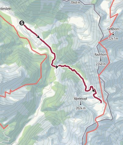 Karte / Von Hinterstein zum Schrecksee (outdooractive-podcast-Tour 1)