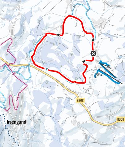 Karte / Stiefenhofen R18 Hopfener-Loipe
