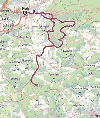 Karte / Der Höhlenweg bei Plech
