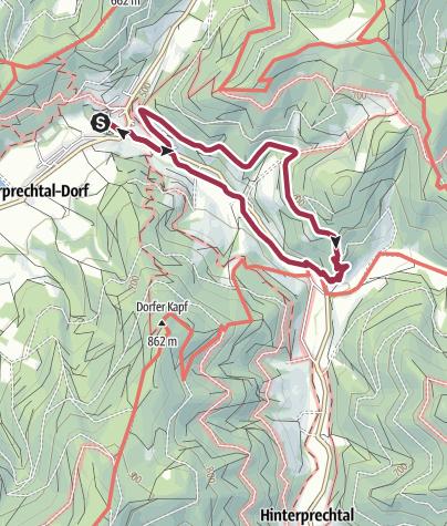 Karte / Heimatkundepfad Oberprechtal