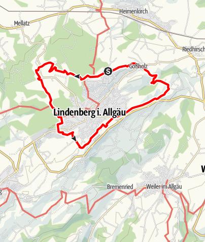 Karte / Lindenberg RW3 Rund um Lindenberg
