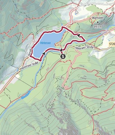 Karte / Naturlehrpfad Zauberwald