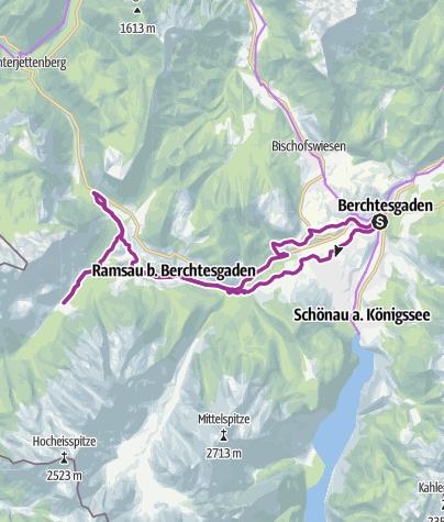 Karte / Rad: Berchtesgadener Radstern West