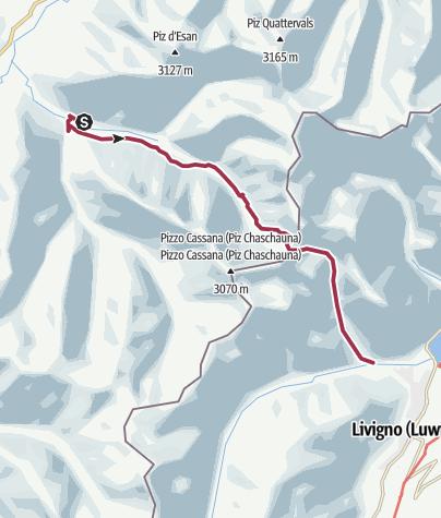 Karte / Varusch -Fcla.Trupchun-Livigno