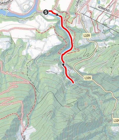 Karte / Geotrail: Liechtensteinklamm