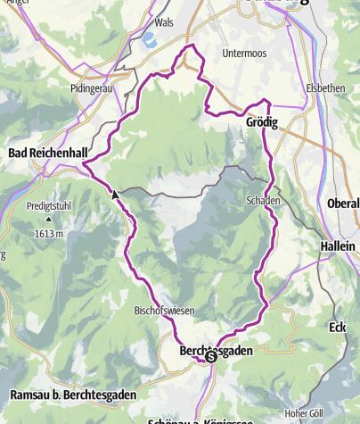 Karte / Rad: Rund um den Untersberg