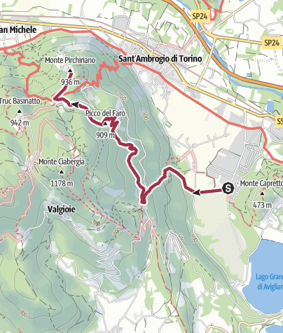 Map / Avigliana - Sacra di San Michele