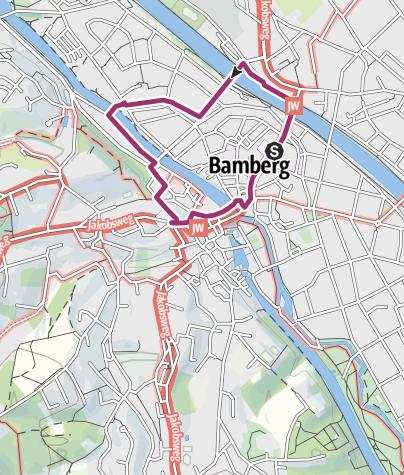 Karte Bamberg.Bamberger Stadtrundgang Stadtrundgang Outdooractive Com
