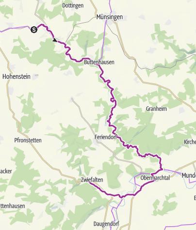 Karte / Lautertal Radweg