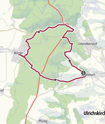 Karte / Rund um den Glockenberg Rundwanderung Schleinbach - Würnitz