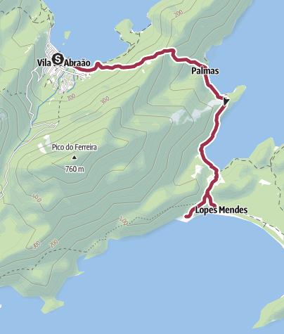 Karte / Ilha Grande: Von Abraao nach Lopes Mendes