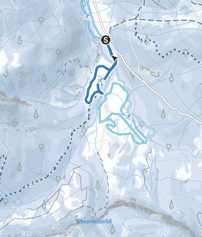 Karte / Hintere Scheuenloipe (schwer) - Langlaufen in Balderschwang
