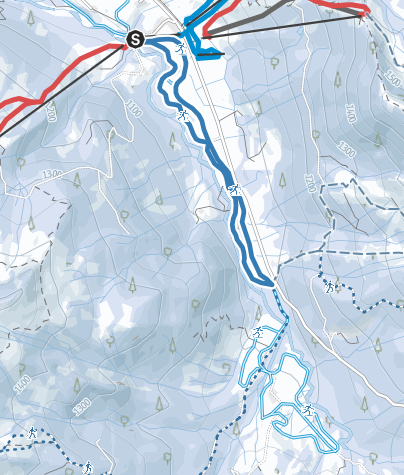 Karte / Riedbergpassloipe zwischen Grasgehren und Balderschwang