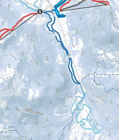 Karte / Riedbergpassloipe - Langlaufen in Balderschwang