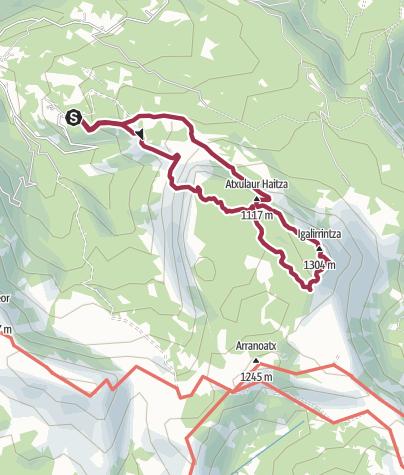 Map / Urigoiti-Itxina-Urigoiti. 07/04/2020 09:56:48