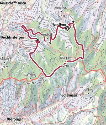 Map / Rundweg: Um Amoltern im Kaiserstuhl