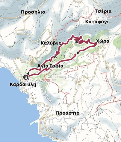 Mappa / Gole di Viros Pelopponeso Grecia