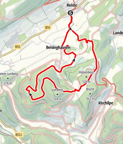 Karte / Rundweg um Reiste Re3