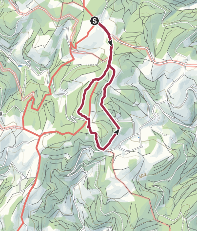 Map / Wanderung vom Wanderheim Kreuzmoos rund um Oberspitzenbach