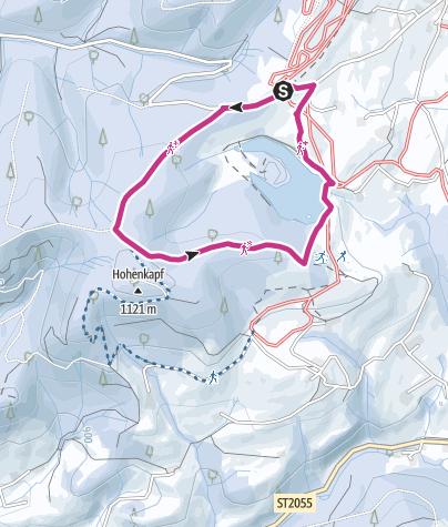 Karte / Winterwanderung um den Eschacher Weiher
