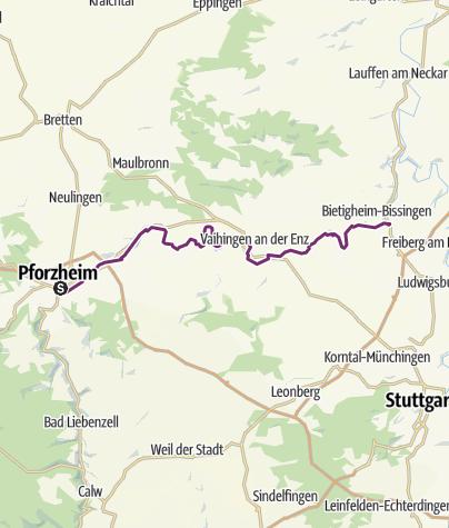 Pforzheim Karte.Schleifenroute De Pforzheim Bietigheim Bissingen Etappe 168