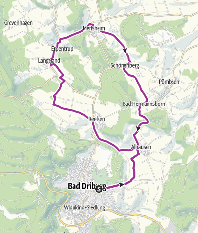 Karte / Garten-Traum-Tour Bad Driburg (E-Bike-Tour)