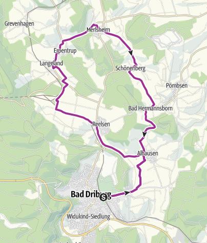 Map / Garten-Traum-Tour Bad Driburg (E-Bike-Tour)