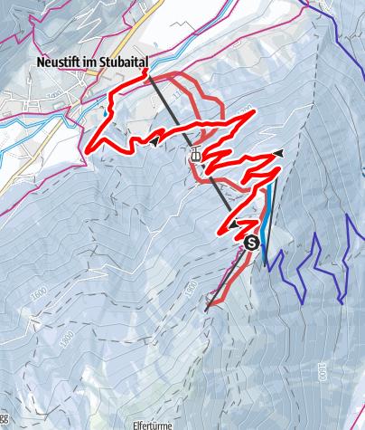 Karte / Rodelbahn Elfer