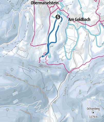 Karte / Haubenegg Loipe  - Langlaufen in Obermaiselstein