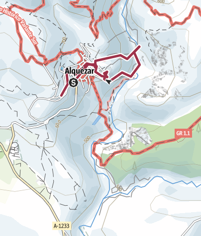 Map / Ruta por Alquézar, Huesca, Aragón