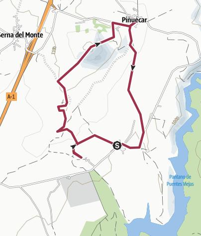 Map / Gandullas - Piñuécar
