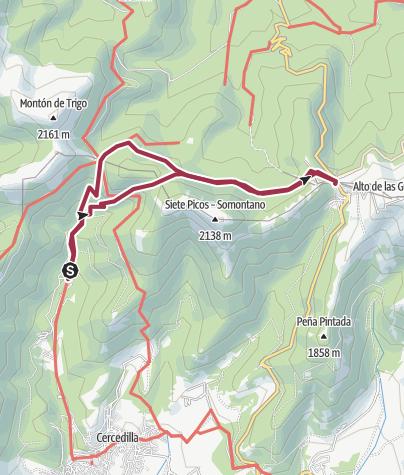 Карта / Calzada Romana y camino Schmid