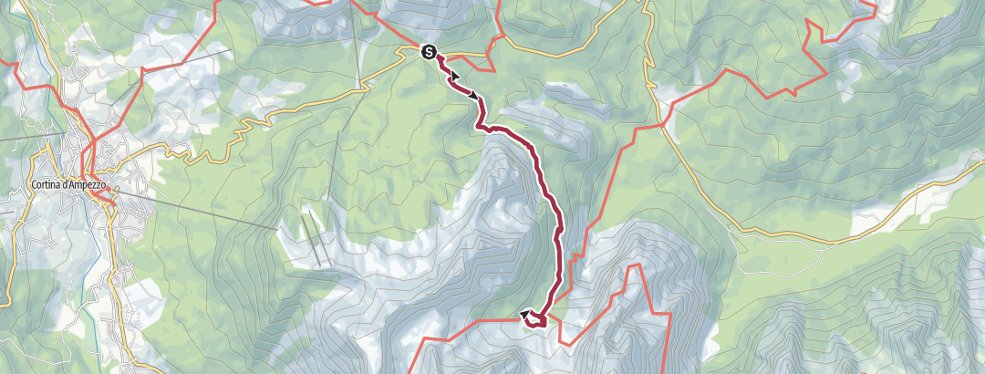 Mapa / Ruta del Lago de Sorapis