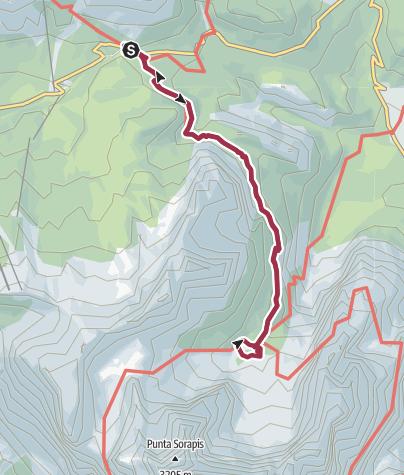 Carte / Ruta del Lago de Sorapis
