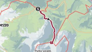 Hartă / Ruta del Lago de Sorapis