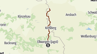 Karte / Mountainbike Deutschland: 4.Tagesetappe Schwabsberg-Rothenburg