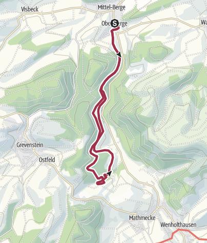 Sauerland Karte Berge.Rundweg Um Berge B7 Wanderung Outdooractive Com