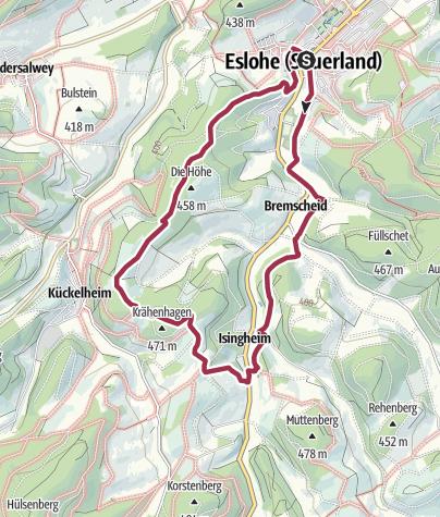 Map / Rundweg um Eslohe (E1)
