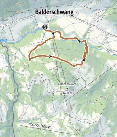Map / Salamöser Nordic Walking Route ab Balderschwang