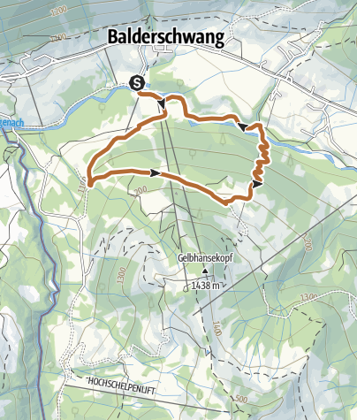 Karte / Salamöser Nordic Walking Route ab Balderschwang