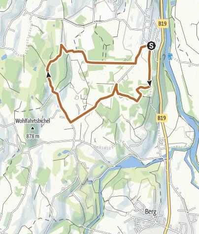 Karte / Tiefenberger Moos - Nordic-Walking-Runde bei Ofterschwang