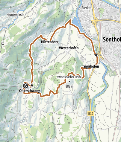 Map / Ofterschwanger Nordic Walking trail