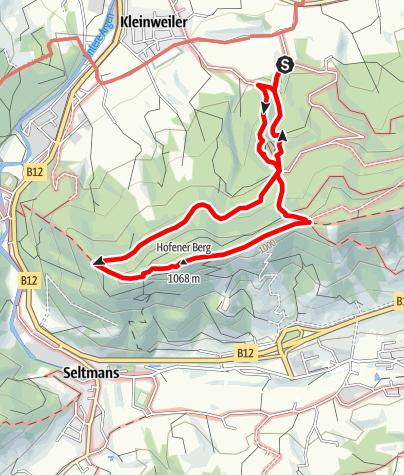 Karte / Kleinweiler / Wassertretstelle - Alttrauchburg - Sonneckgrat