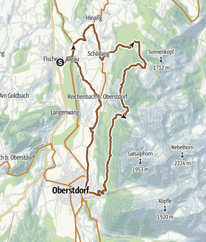 Map / Stitzl-Gaisalp-Radrunde ab Fischen