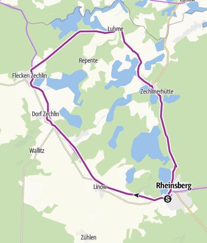 Karte / Seentour rund um Rheinsberg