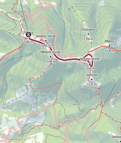 Karte / Hörnle-Wanderung