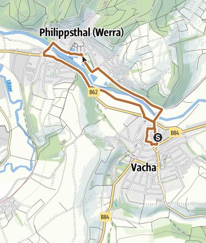 Karte / Stadtrunde Vacha