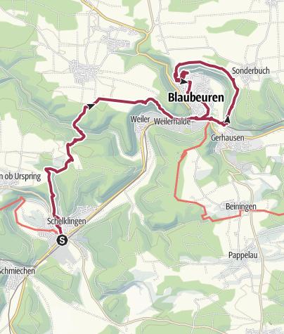 """Karte / Zur """"Küssenden Sau"""" und """"Schönen Lau"""""""