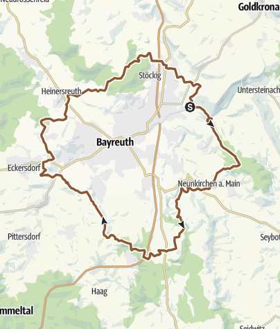 Karte / R-Weg um Bayreuth