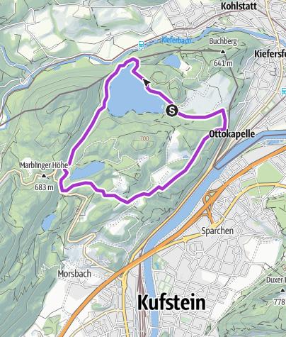 Karte / große Rundtour um den Hechtsee